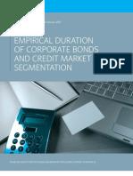 Empirical Duration of Corporate Bonds and Credit Market Segmentation