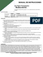 Manual Termohigrometro