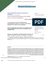 Archivo Brasilero de Medicina Veterinaria y Zootecnia - correlación de la actividad de la ceruloplasmina sérica con concentraciones de cobre en suero y el hígado en las vaquillas Nelore