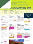 Calendario semestral2013
