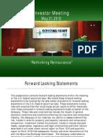 Green Light Re 2012 Investor Meeting