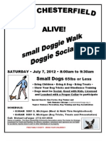 WCCA Alive - Violence Prevention - Small Doggie Walk and Doggie Social Social 8am July 7 2012