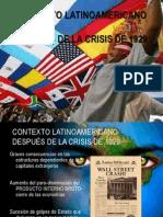 Diapositivas , Grado Noveno:Tema:Contexto Latinoamericano después de la crisis de 1929