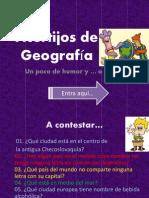 Acertijos de Geografía
