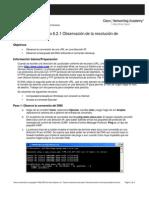 Práctica de laboratorio 6.2.1 Observación de la resolución de Nombres DNS (Resuelto)