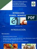 INTERACCIÓN- planta nematodo