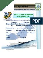 PROCESOS DE INMOVILIZACIÓN DE ENZIMAS QUE SE UTILIZAN EN LA INDUSTRIA ALIMENTARIA(original)