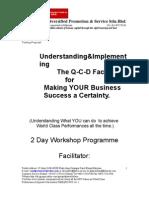Training Proposal for Q-C-D Methodology Workshop-Revised 281108