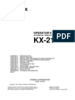 Sysmex KX-21 Hematology Analyzer - Instruction Manual