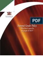 Brochure on National Gender Policy - Final-Designed - 8Mar2012