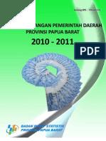 Statistik Keuangan Pemerintah Daerah 2010-2011