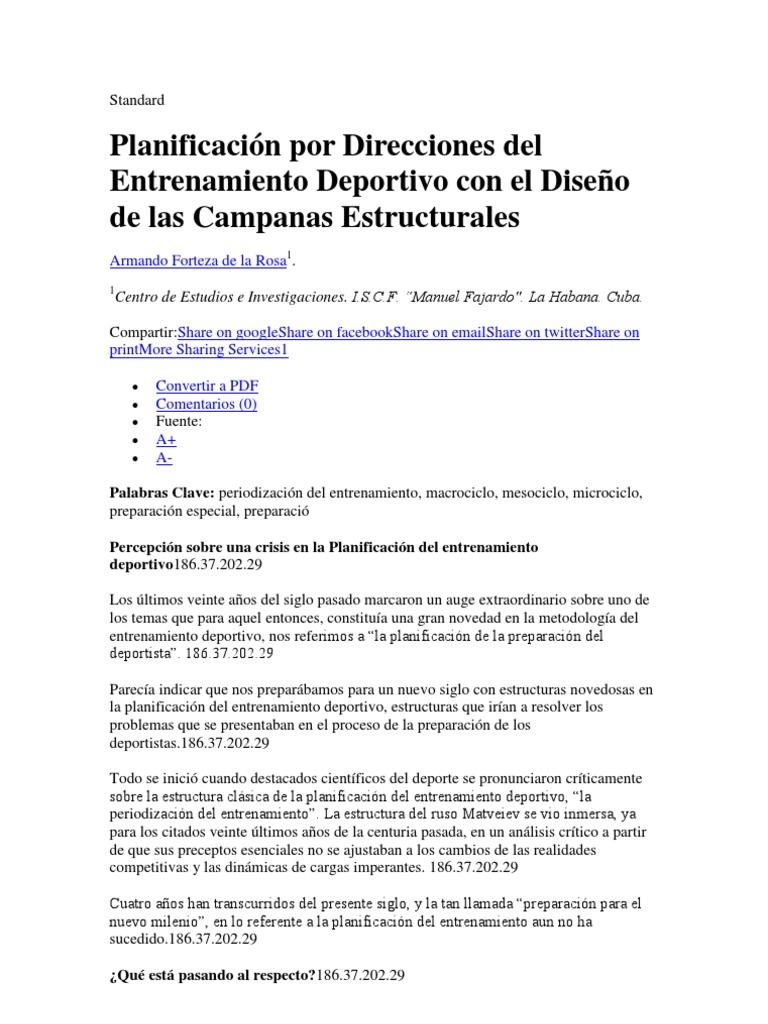 Planificacion Del Entrenamiento Deportivo Download