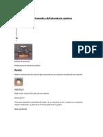 Instrumentos del laboratorio químico