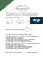 Exercícios de Determinantes (1)