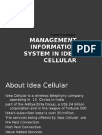 Management Information System in Idea Cellular