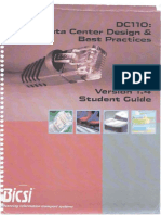 DC110 Data Center Design and Best Practices Version 1.4 Student Guide September 2010