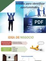 Métodos para identificar oportunidades.cap 4