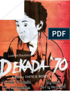 dekada 70 ni lualhati bautista book report By book literature study guides infographics tth 12:00- 1:30 dekada '70 reflection paper edsa people power revolution is one of the most important events in the philippine history and it was a film has been released entitled dekada '70 which is based on the novel of lualhati.