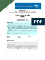 SCS Paper B September 2012 - Final