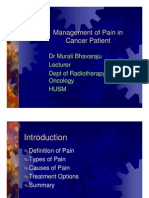 Management of Pain in Cancer Patient