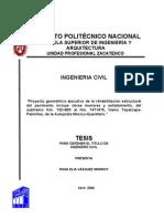 TESIS Proyecto Geometrico de La Rehabilitacion Estructural Del Pavimento