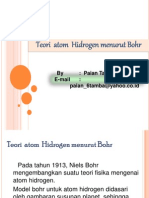 Teori Atom Hidrogen Menurut Bohr