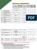 Grade de Disciplinas 2012-1