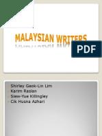 Malaysian Writers