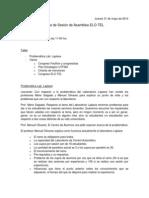 Acta de Asamblea ELO-TEL 31/05/2012