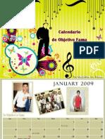 Calendario de Objetivo Fama 2009