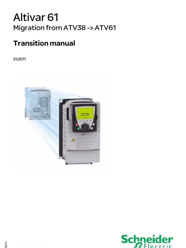 Atv61 Migration From Atv38 En 1765111 03 Electronic Filter Altivar 61 Control Wiring Diagram Electrical Connector