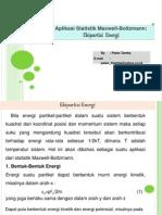 Aplikasi Statistik Maxwell-Boltzmann,Ekipartisi Energi