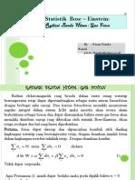 Statistik Bose-einstein,Radiasi Benda Hitam, Gas Foton