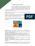 DETERMINACION DE COLIBACTERIAS