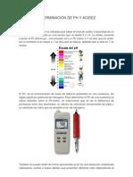 Determinacion de Ph y Acidez