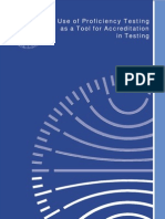 Use of Proficiency Testing as a Tool for Accreditation in Testing