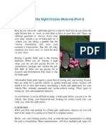 Selecting the Right Friction Material -Part I