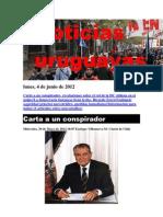 Noticias Uruguayas Lunes 4 de Junio Del 2012