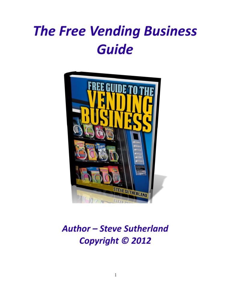 how to start a vending machine business melbourne