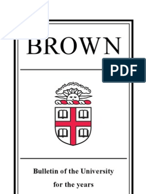 Brown: Bulletin of the University for the years 2007–2009
