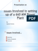 Issue in Setting Up 660 MW