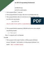 Assignments BSCS Programming Fundamental