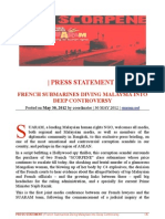 SUARAM Press Statement French Submarines