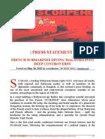 SUARAM Press Statement French Submarines