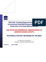 GMS RETA 6440 - Rationale for Key Revisions of the MOU