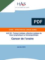 Cancéro 2010.01 Cancer de l'ovaire