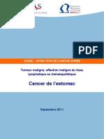 Cancéro 2011.09 Cancer de l'estomac