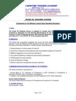 Crude Oil Washing Course Brochure- Corrected