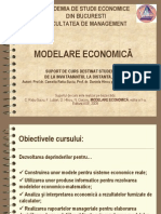 Introduce Re Curs Modelare Economica