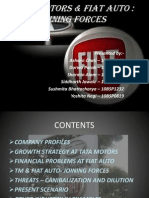 Tata Motors and FIAT Auto Final Ppt